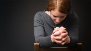 Thankful praying